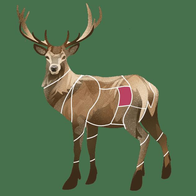 Flatbiff av hjort
